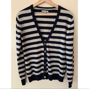 Burberry • S • Striped V-Neck Cardigan